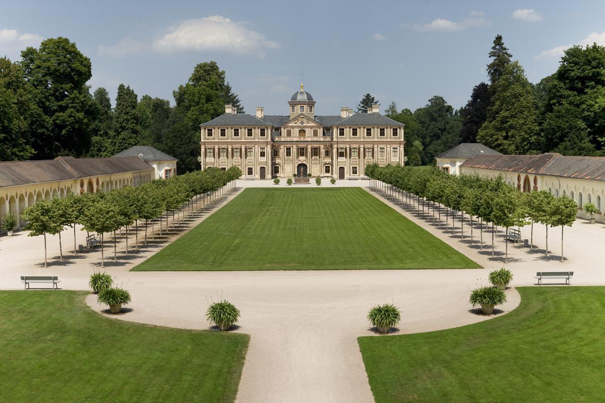 Ansicht von Schloss Favorite Rastatt