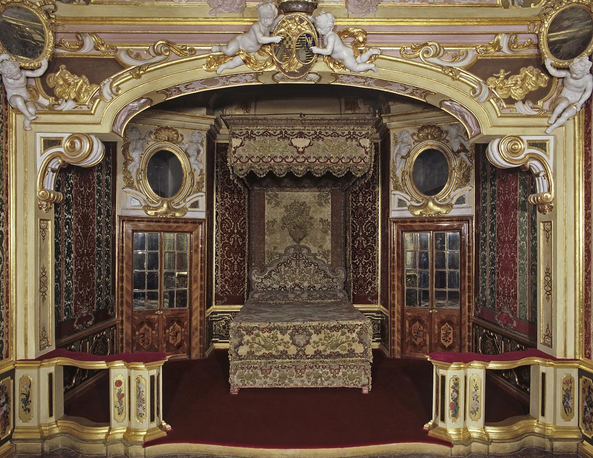 Schloss Favorite Rastatt - Schlafzimmer der Markgräfin
