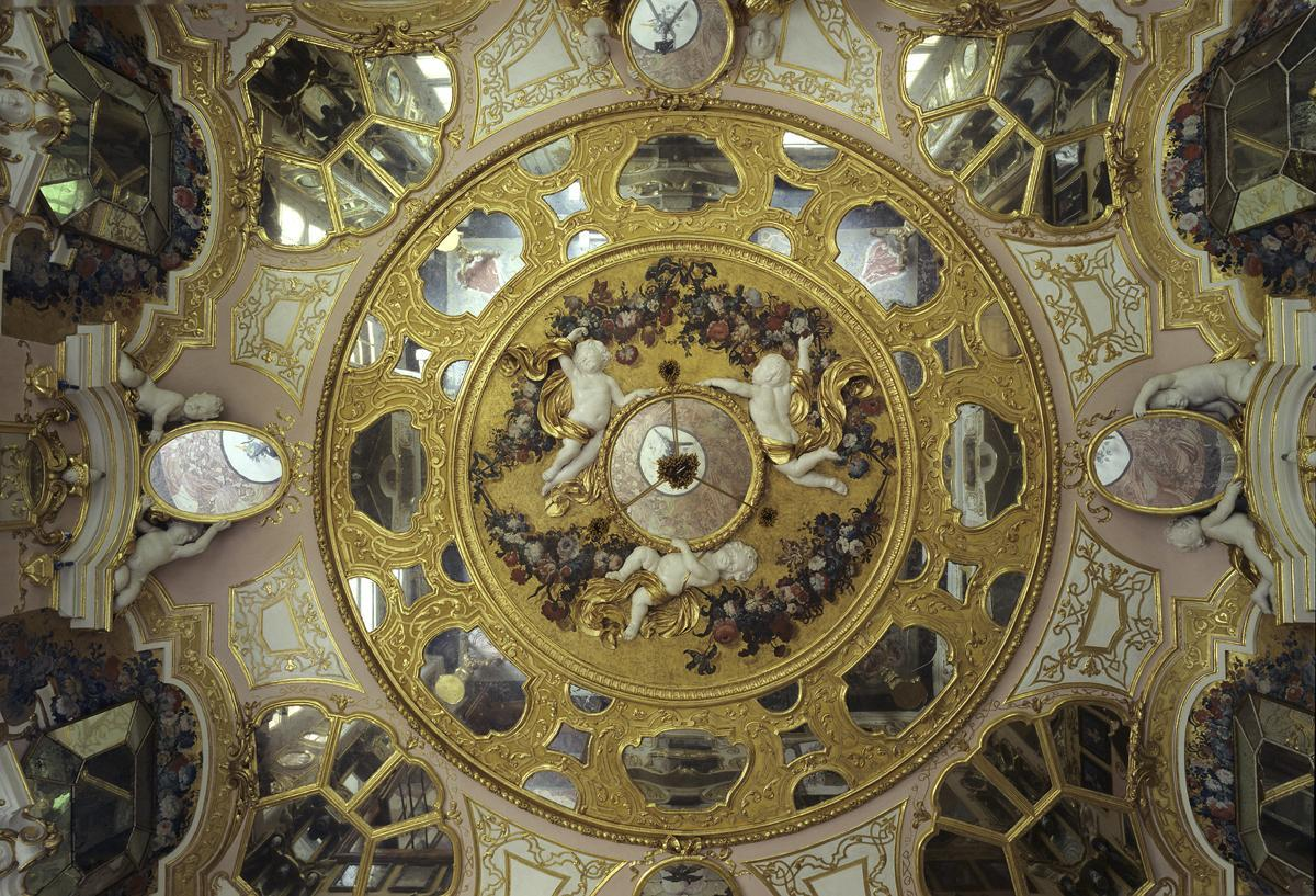 Image: Ceiling in the hall of mirrors, Rastatt Favorite Palace
