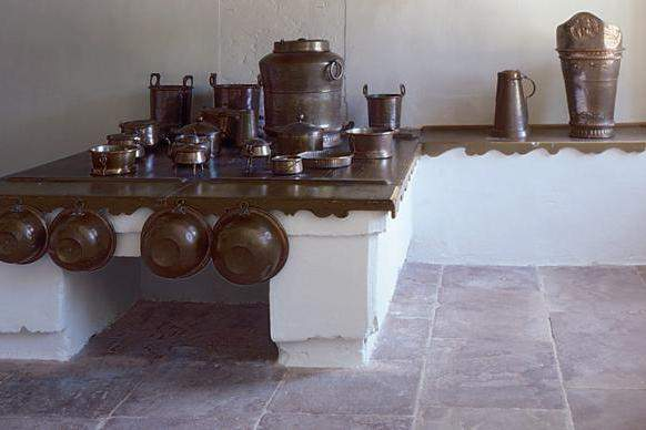 Hearth in the open kitchen, Rastatt Favorite Palace