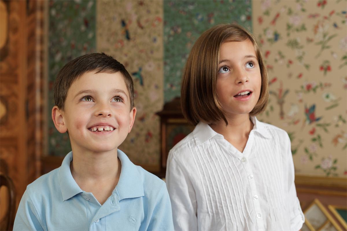 Kinder im Schloss Favorite Rastatt