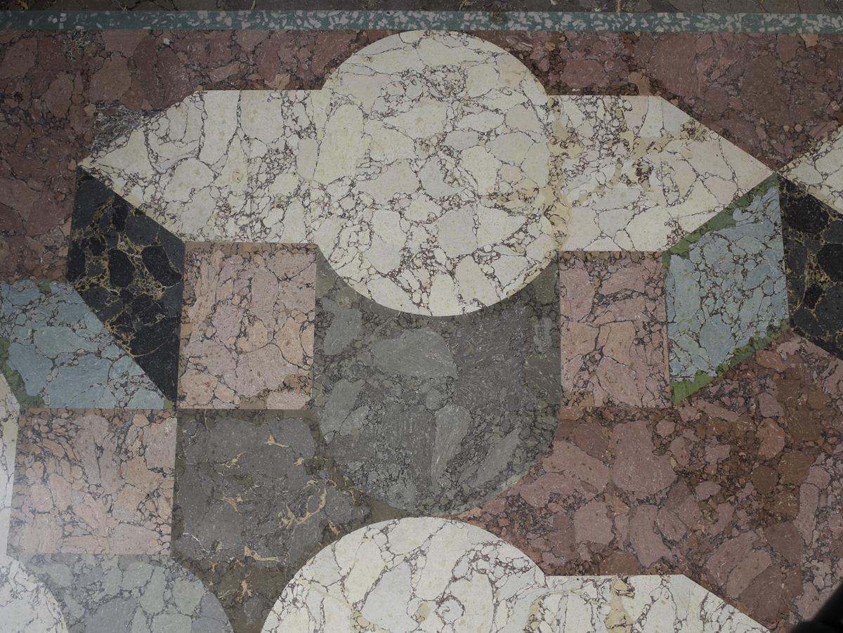 Detail des Fußbodens des Schlafzimmers der Markgräfin in Schloss Favorite Rastatt; Foto: Staatliche Schlösser und Gärten Baden-Württemberg, Martine Beck-Coppola