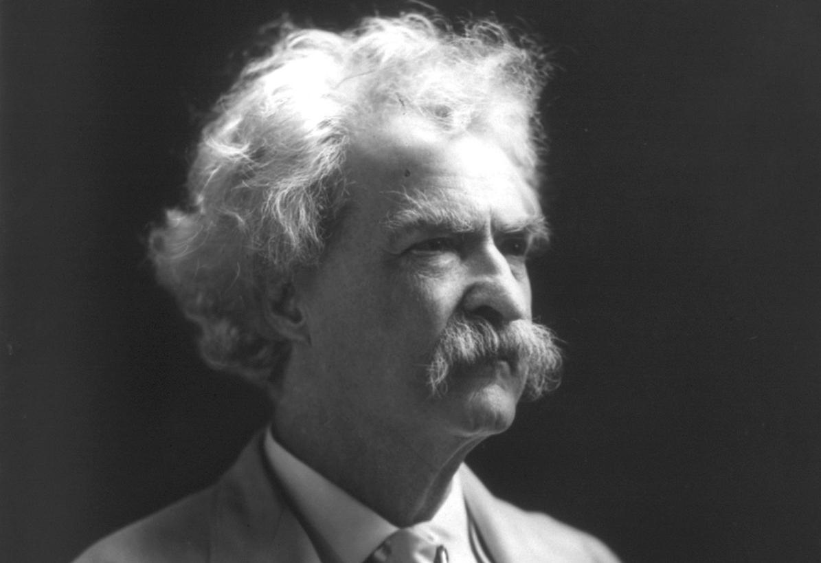 Photograph of Mark Twain. Image: Wikipedia, in the public domain