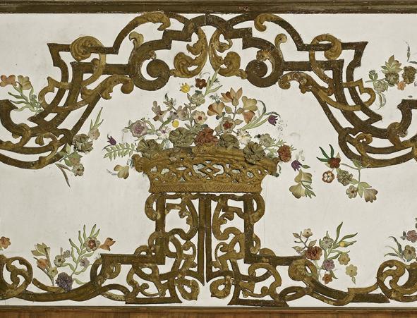 Detail aus dem Eckzimmer in Schloss Favorite Rastatt; Foto: Staatliche Schlösser und Gärten Baden-Württemberg, Arnim Weischer