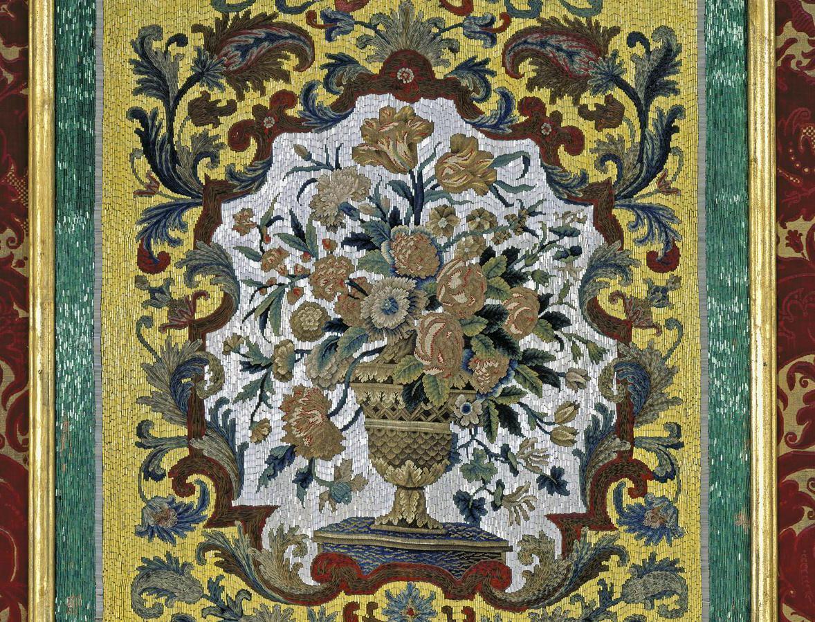 Detail aus dem Appartements des Erbprinzen in Schloss Favorite Rastatt; Foto: Staatliche Schlösser und Gärten Baden-Württemberg, Arnim Weischer