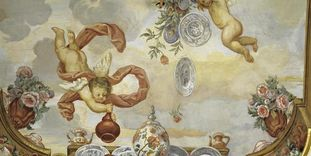 Image: Detail of the ceiling painting in the Flower Room, Rastatt Favorite Palace