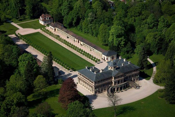 Rastatt Favorite Palace, aerial view of the palace