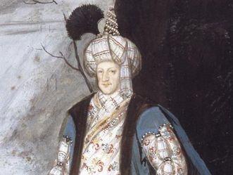 Portrait en costume du margrave LudwigWilhelm en Turc au château de la Favorite de Rastatt