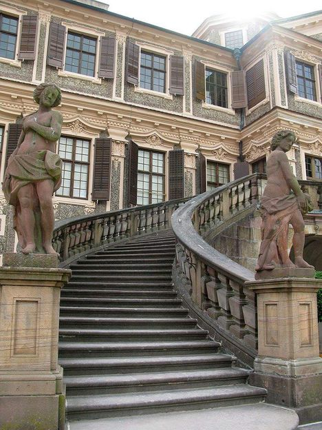 Rastatt Favorite Palace, External staircase