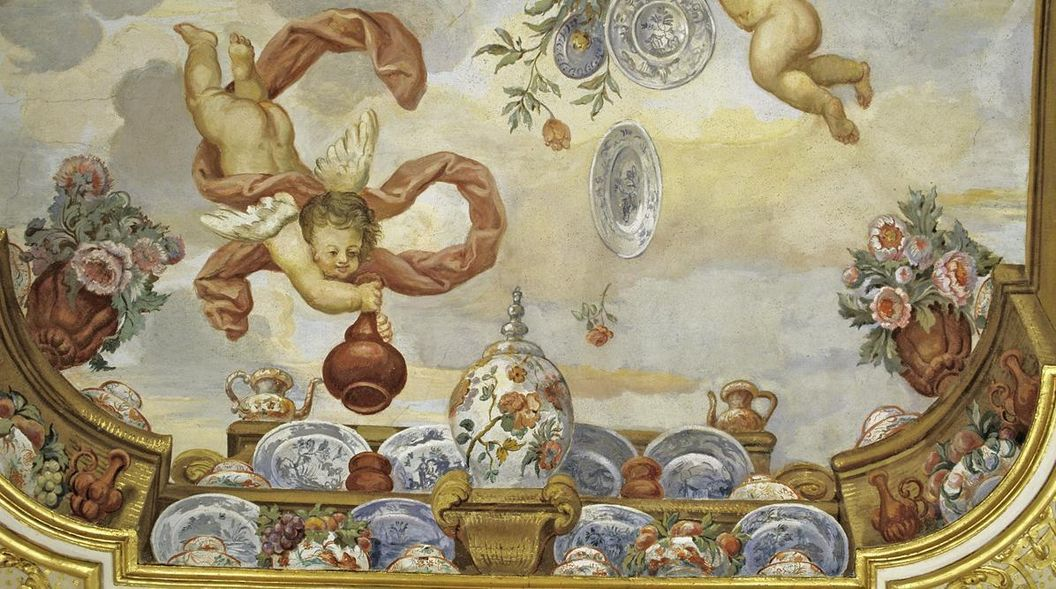 Image: Painting with Delft plates in the flower room, Rastatt Favorite Palace
