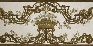 Detail of the wall design in the Flower Room, Rastatt Favorite Palace.