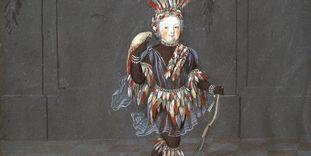Kostümbild, ursprünglich im Spiegelkabinett von Schloss Favorite Rastatt