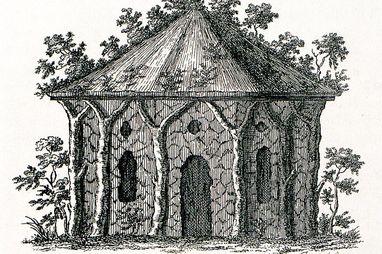 Der Bautyp Eremitage – in einer Zeichnung von Christian Hirschfeld, 1779; Foto: Staatliche Schlösser und Gärten Baden-Württemberg, Arnim Weischer