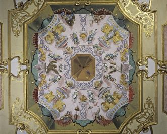 View of the ceiling in the green bedroom, Rastatt Favorite Palace
