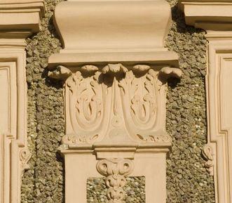 Détails sur la façade du château de la Favorite de Rastatt