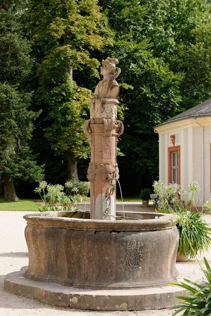 Rastatt Favorite Palace, Fountain in the courtyard