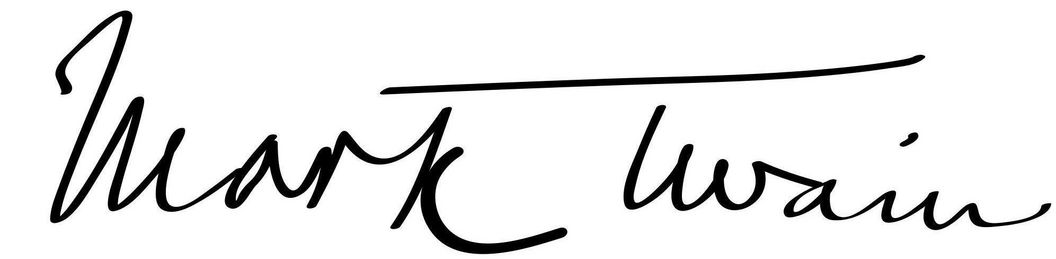 Mark Twain's signature. Image: Wikipedia, in the public domain