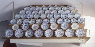 Keramik in der Schauküche von Schloss Favorite Rastatt