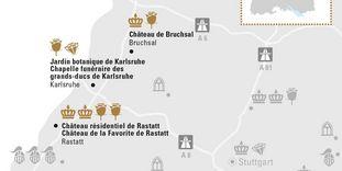 """Carte de région """"Karlsruhe et sa Région"""""""