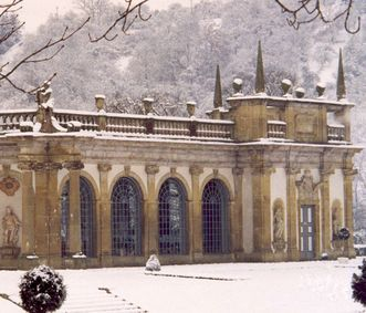 Orangery, Weikersheim Palace. Image: Staatliche Schlösser und Gärten Baden-Württemberg, Monika Menth