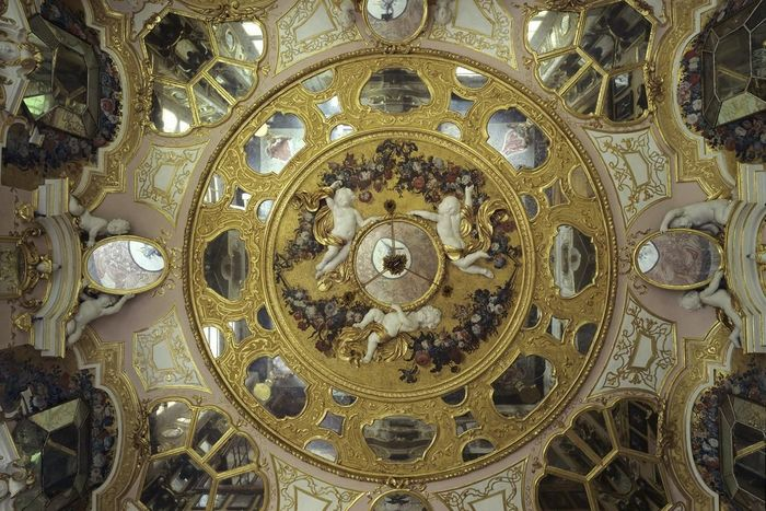 Ceiling in the hall of mirrors, Rastatt Favorite Palace