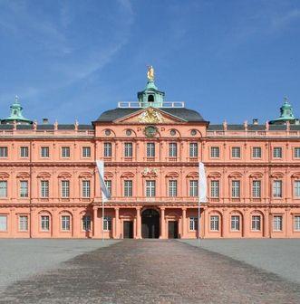 Ansicht des Ehrenhofs des Residenzschloss Rastatt