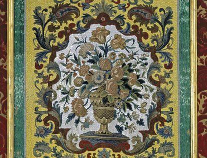 Detail aus dem Appartements des Erbprinzen in Schloss Favorite Rastatt
