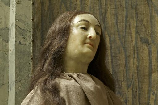 Wax likeness of Sibylla Augusta as one of the Maria Magdalena figures.