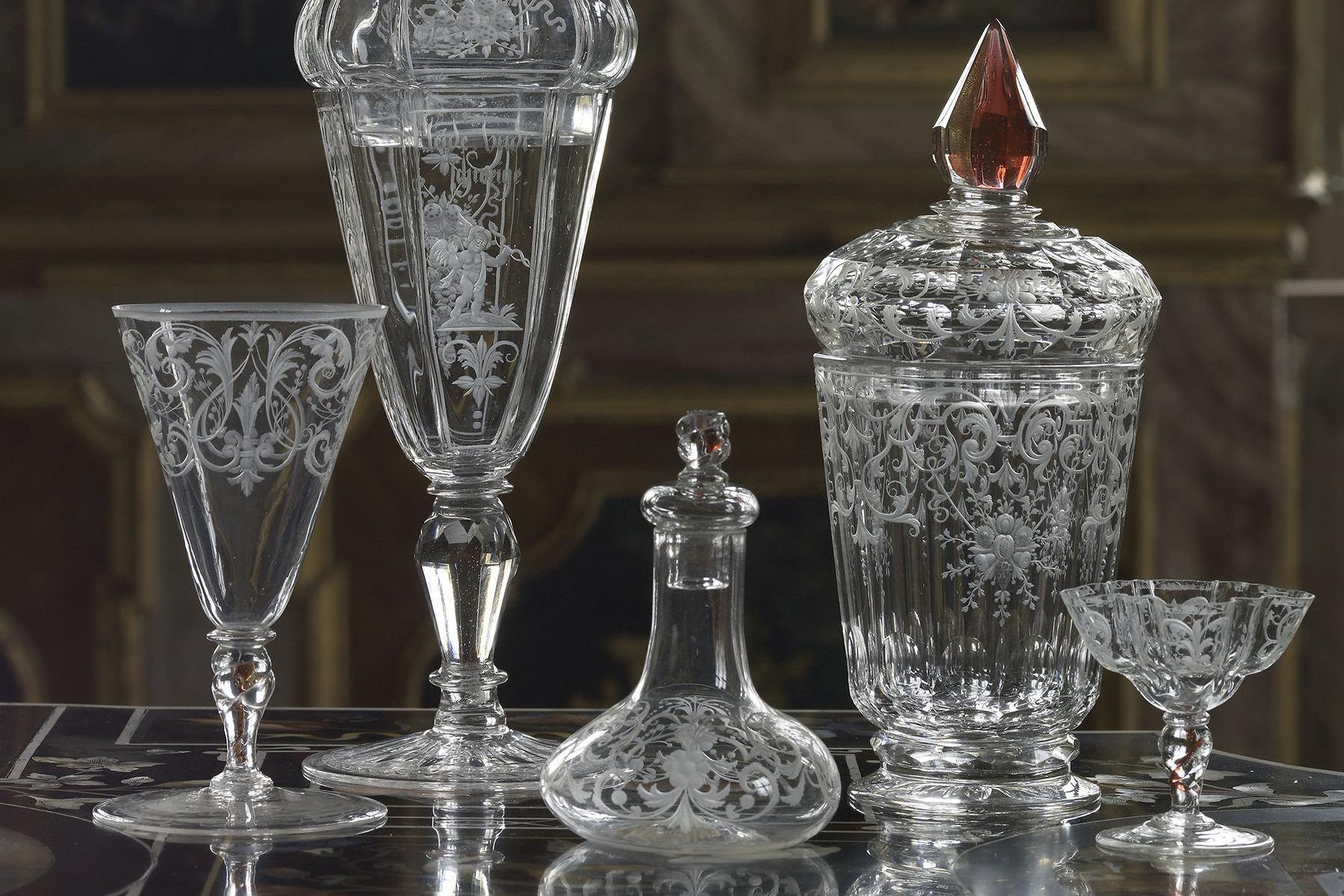 Schloss Rastatt Favorite, historische Glassammlung