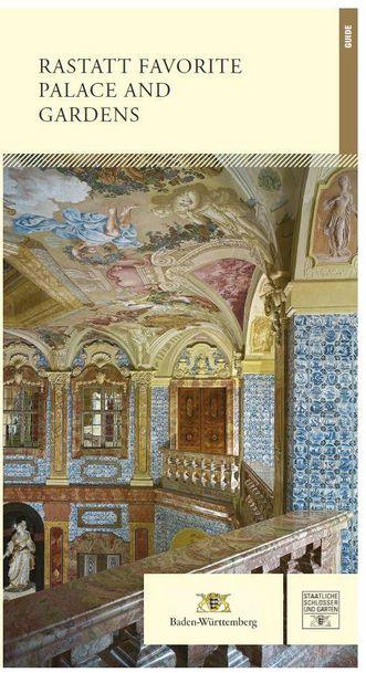 """Titel des Kunstführers """"Rastatt Favorite Palace and Gardens""""; Gestaltung: Staatliche Schlösser und Gärten Baden-Württemberg, JUNG:Kommunikation GmbH"""