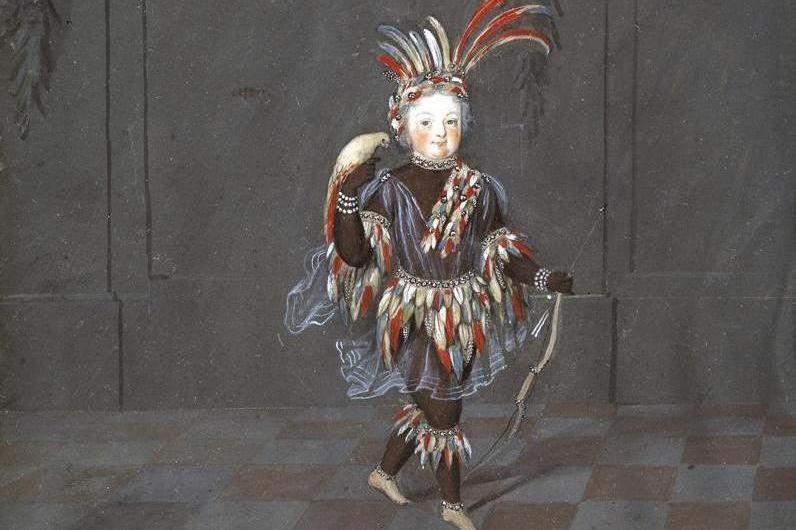 Portrait en costume, accroché à l'origine dans la galerie des Glaces du château de la Favorite de Rastatt