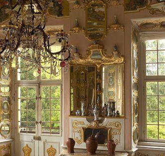 Detail of the hall of mirrors, Rastatt Favorite Palace. Image: Staatliche Schlösser und Gärten Baden-Württemberg, Martine Beck-Coppola