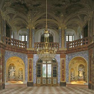 View of the sala terrena, Rastatt Favorite Palace. Image: Staatliche Schlösser und Gärten Baden-Württemberg, Arnim Weischer