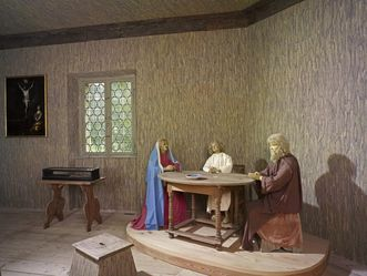 Wax figures of the Holy Family in the hermitage, Rastatt Favorite Palace. Image: Staatliche Schlösser und Gärten Baden-Württemberg, Arnim Weischer