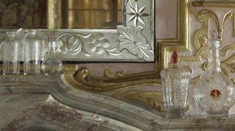 Böhmisches Glas aus der Sammlung Sibylla Augustas in Schloss Favorite Rastatt