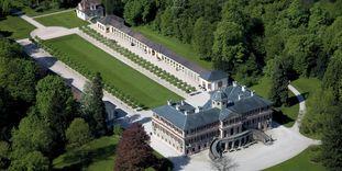 Luftansicht von Schloss Favorite Rastatt