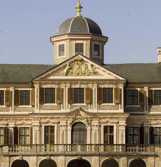 Vue de la façade nord du château de Rastatt